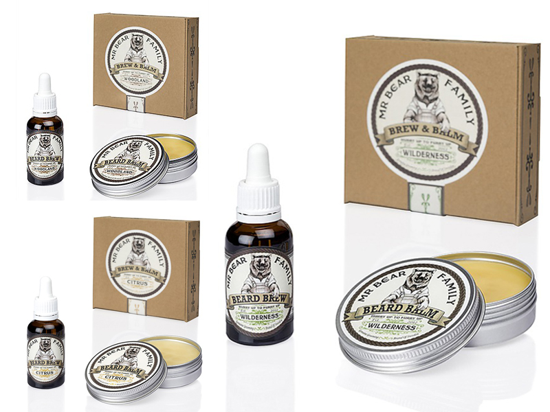 Mr. Bear Family Special Kit Brew and Balm - balzám na bradu cd2e69dc410