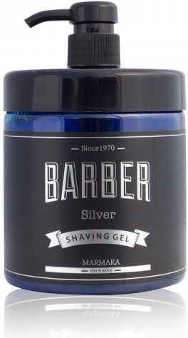 Marmara Barber Shaving Gel - gél na holenie silver, 1000 ml