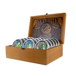 AKCIA: Hey Joe! Pomade Box - sada pomád - 5x Pomade strong, 100 ml + 5x Pomade super strong, 100 ml + 5x Pomade matte, 100 ml + drevený box